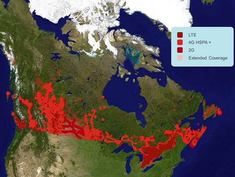 Rogers Coverage Map for Canada